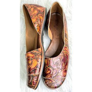 Cliff Dweller Shoes - Cliff Dweller Norma Red Stamped Rose EU 38.5, US 8